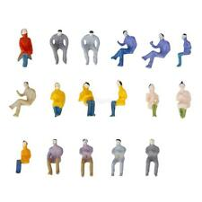 100px Painted Seated People Figure Model Train Layout Scenery 1:100 TT Scale