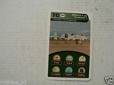 44-AIRPLANES 7C FAIRCHILD A-10A THUNDERBOLT II KWARTET KAART, QUARTETT CARD