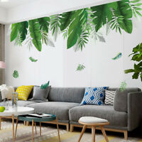 Tropical Palm Leaves Wall Sticker Green Plant Vinyl Decal Nursery Art Mural GIFT
