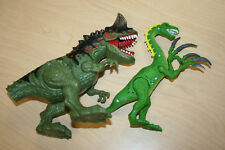Lot of 2 RARE Light / Sound Chap Mei Dinosaurs Carnotaurus 2014 & Green w/ Claws