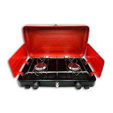 Stansport 20,000 total BTU 2 burner camp stove in RED/BLACK