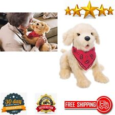 New listing Robotic Sitting Golden Dog Stuffed Animal Therapy for People with Memory Loss