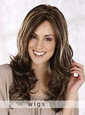 Mode Damenperücke Lang Braun Blond Gewellt Haarteil Wigs Zweithaar NEU Perücken