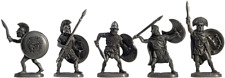 """Tin soldier, figure. A set of tin soldiers - """"Ancient Greeks"""" 40-50 mm 5 figures"""