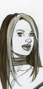 HOT SAVAGE ROGUE  SK#1387 FANTASY ORIGINAL PINUP GIRL ART by ALEX MIRANDA