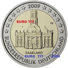 2  €   ALLEMAGNE     1   x   PIECE  NEUVE   SARRE    2009    /    ASSEZ  RARE