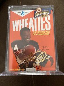 Wheaties 75 Years Of Champions Walter Payton Gold Signature Box
