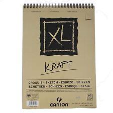 Canson XL Kraft A3 60 page Papier Marron Sketch Pad