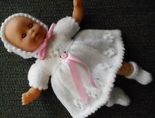 "Doll Clothes White Dress Set Fits 11"" Tiny Tears, 12"" Corolle Premie Mom"