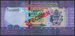 "Solomon Islands 20 Dollars P34 2017 s/n A/1 000000 UNC ""SPECIMEN"""