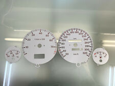 Audi 80 B4 S2 RS2 dials Tachoscheiben 320 km/h - grey color *for VDO clusters*