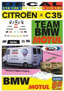 DECAL CITROEN C35 BMW MOTORSPORT TEAM MOTUL 1983 BERNARD BEGUIN (06)