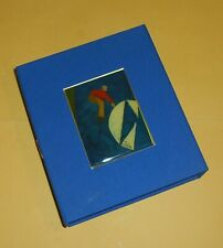 Emilio Tadini - Scatola in tela con minilitografia smaltata - Fantastico blu