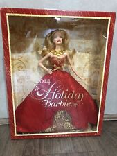 2014 Holiday Barbie Collector BDH13 Blonde Red Gown NRFB