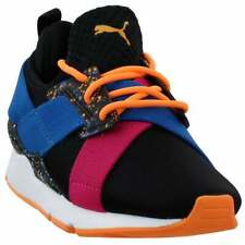 Puma Muse Multi (Little Kid) Sneakers Casual    - Black - Boys