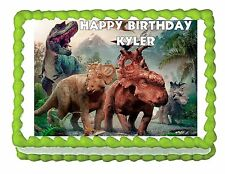 Walking with Dinosaurs edible cake topper decoration image frosting sheet