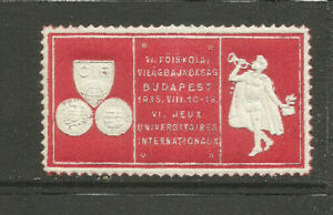 Hungary/Budapest 1935 VI International University Games poster stamp/label