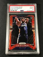 ZION WILLIAMSON 2019 PANINI PRIZM #248 RUBY WAVE REFRACTOR ROOKIE RC PSA 9 NBA