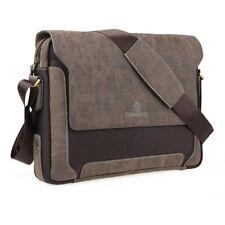 Men's PU Leather Canvas Messenger Shoulder Bag Satchel  Laptop Crossbody Bags