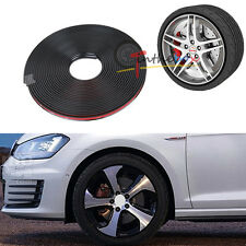 "315"" Car Wheel Hub Rim Protector Tire Ring Guard Sticker Rubber JDM Black Strip"