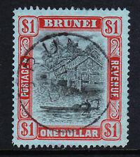Brunei 1908-22 $1 noir & rouge sg 46 fine utilisés.