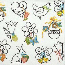 4 parti unique serviettes en papier pour découpage decopatch craft decorative easter