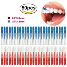 50pcs Interdental Brush Toothpick Plastic Between Tooth Teeth Gaps Cleaning Kit