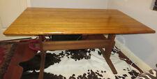 Vintage Dining Desk Library OAK Trestle Farmhouse Table