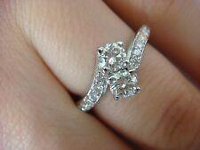 "14K WHITE GOLD ""EVER US"" DESIGN 0.85 CT T.W. FRIENDSHIP-ANNIVERSARY DIAMOND RING"