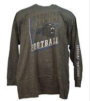 Carolina Panthers NFL Majestic 2 Hit Long Sleeve T-Shirt Charcoal Grey Mens, nwt