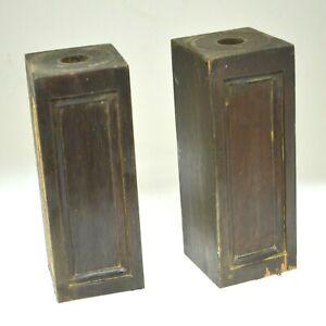 Set of Antique Mahogany Furniture Parts rectangular wood solid heavy pediment