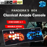 Pandora's Box 3188 in 1 Retro Arcade Games Console 3D Plus 4 Players For PC TV