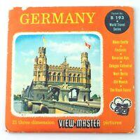 Vintage View-Master Reel Set Packet B193 GERMANY (1956) World Travel Series