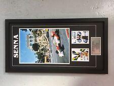 AYRTON SENNA - framed large 3 photo montage - large pic 12x18inch RRP $199