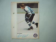 1971/72 TORONTO SUN NHL ACTION HOCKEY PHOTO RENE ROBERT ROOKIE SHARP!! 71/72 TS