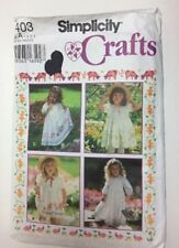 Simplicity 9403 A Toddler Girl's Stenciled Dress Pattern - Size 1, 2, 3, 4 UNCUT