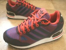 Adidas ZX 750 UK Men/Youth Size 3.5 Knit style Blue red and black used 2-3times