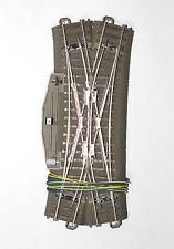 Trix H0 62624 C-Gleis Doppelkreuzungsweiche mit Antrieb und Weichenlaterne Neu