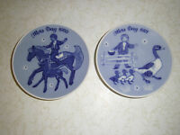Porsgrund Norway Mors Dag Mothers Day Plates 1970 & 1971 Limited Edition