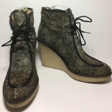 3.1 Phillip Lim $340 Hair Calf Speckled Wedge Bootie Sz 39 Fits 7.5
