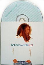 BELINDA CARLISLE CD Real UK PROMO Card Slip-in Sleeve 10 Track MINT / UNPLAYED