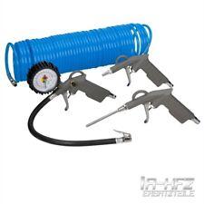 Druckluft Set für Kompressor Reifenfüller Druckluftschlauch 15m Zubehör 4 Teilig