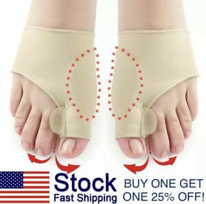 2pcs Hallux Valgus Bunion Corrector Orthopedic Adjuster Brace Foot Toe Separator