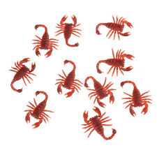 10Pcs Joke Scorpion Funny Prank Novelty Life Like Fake Plastic Toy Trick ^