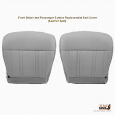 1997 FORD F-150 DRIVER & PASSENGER BOTTOM LEATHER SEAT COVER MEDIUM GRAY
