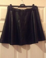 NEW LOOK, SKIRT, short Faux Leather Brown, Skirt, Uk 12