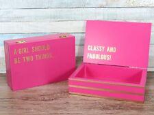 Cloud Nine Large Secret message box Pink - Girl Classy Fabulous 15cm