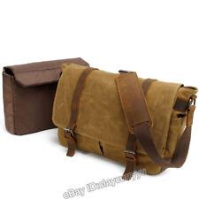 Men's Canvas Camera Waterproof Briefcase Messenger Shoulder Bag Padded