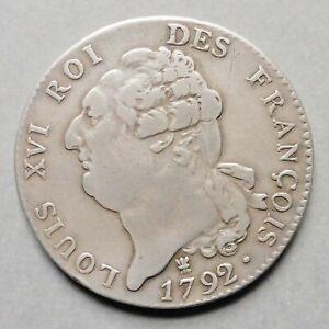 """Constitution - Ecu de 6 Livres  """"François"""" - 1792 I  Limoges  (1er Semestre)"""
