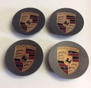 Porsche Center Cap Set GUNMETAL COLOR CREST
